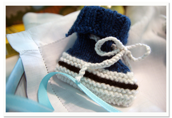 "Knitted ""Converse"" Booties"