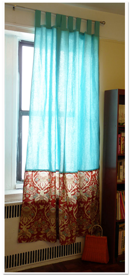 Custom Tab-top Curtain