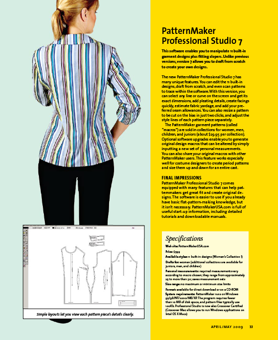 Pattern Drafting Software Reviews Style Schematic